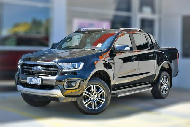 Used Ford Ranger PX MkIII 2020.25MY Wildtrak Berwick, 2020 Ford Ranger PX MkIII 2020.25MY Wildtrak Black 10 Speed Sports Automatic Double Cab Pick Up