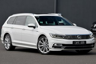 2019 Volkswagen Passat 3C (B8) MY19 206TSI DSG 4MOTION R-Line White 6 Speed.