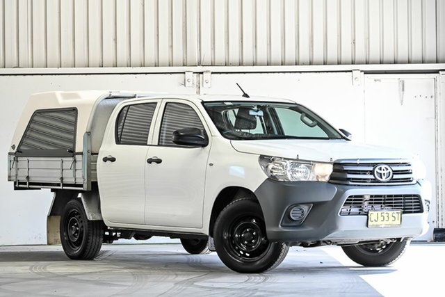 Used Toyota Hilux TGN121R Workmate Double Cab 4x2 Laverton North, 2016 Toyota Hilux TGN121R Workmate Double Cab 4x2 White 6 Speed Sports Automatic Utility