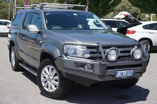 2012 Volkswagen Amarok 2H MY12 TDI400 4Mot Highline Natural Grey 6 Speed Manual Utility.
