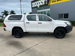 2016 Toyota Hilux GUN125R Workmate Double Cab White/030217 6 Speed Sports Automatic Utility.