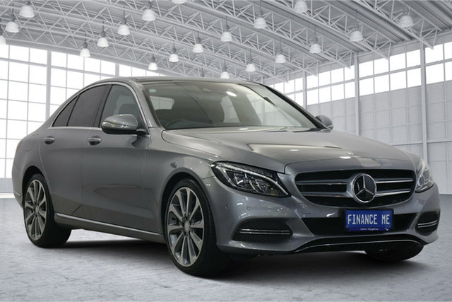 Used Mercedes-Benz C-Class W205 C250 7G-Tronic + Victoria Park, 2015 Mercedes-Benz C-Class W205 C250 7G-Tronic + Silver 7 Speed Sports Automatic Sedan