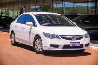 2010 Honda Civic 8th Gen MY10 VTi White 5 Speed Automatic Sedan.
