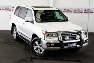 2015 Toyota Landcruiser VDJ200R MY13 Sahara Crystal Pearl 6 Speed Sports Automatic Wagon.