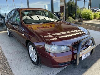 2004 Ford Falcon BA MkII Classic Red 4 Speed Auto Seq Sportshift Sedan.