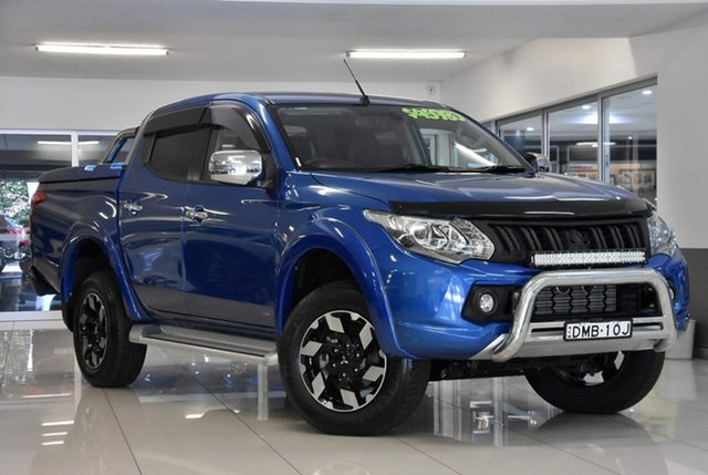Used Mitsubishi Triton MQ MY16 Exceed Double Cab Waitara, 2016 Mitsubishi Triton MQ MY16 Exceed Double Cab Blue 5 Speed Sports Automatic Utility