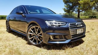 2016 Audi A4 B9 8W MY16 Sport S Tronic Quattro Blue 7 Speed Sports Automatic Dual Clutch Sedan.