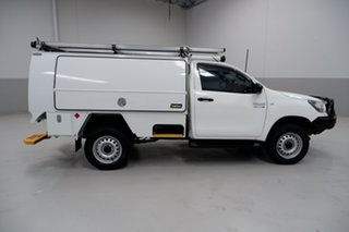 2018 Toyota Hilux GUN126R SR White 6 Speed Sports Automatic Cab Chassis