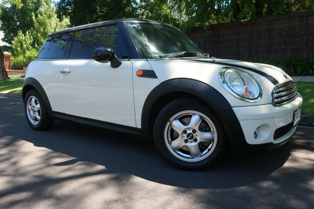 Used Mini Hatch R56 Cooper Prospect, 2008 Mini Hatch R56 Cooper White 6 Speed Manual Hatchback