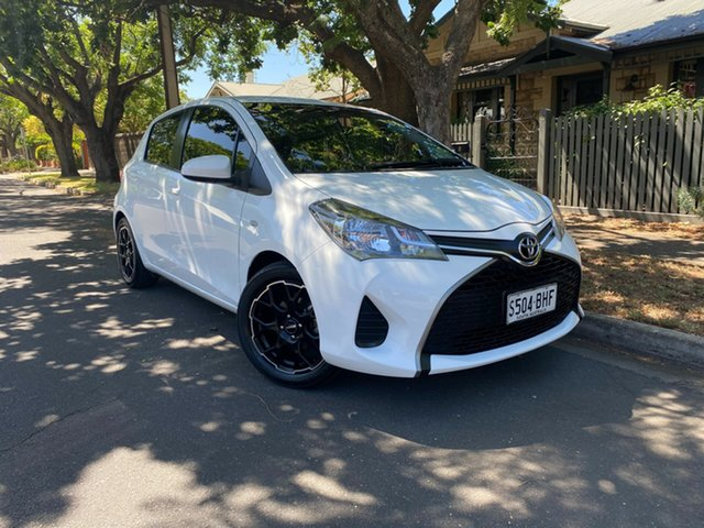 Used Toyota Yaris NCP130R Ascent Hawthorn, 2015 Toyota Yaris NCP130R Ascent White 5 Speed Manual Hatchback