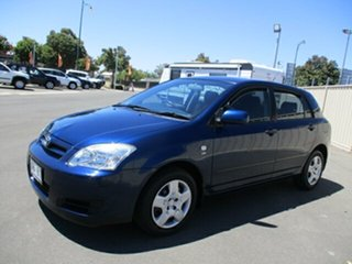 2005 Toyota Corolla ZZE122R Ascent Seca Blue 4 Speed Automatic Hatchback.