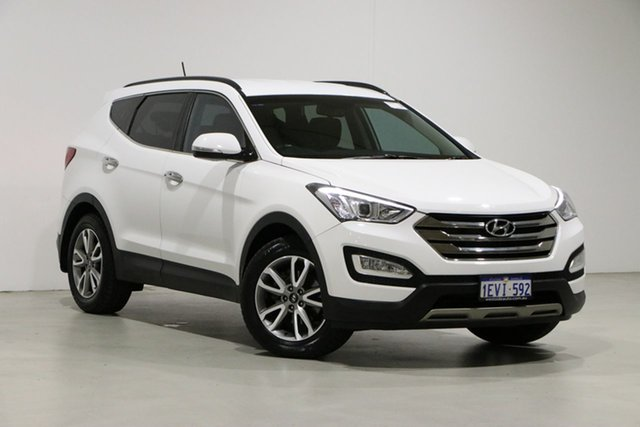 Used Hyundai Santa Fe DM Elite CRDi (4x4) Bentley, 2014 Hyundai Santa Fe DM Elite CRDi (4x4) White 6 Speed Automatic Wagon