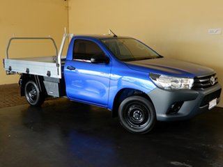 2018 Toyota Hilux TGN121R MY19 Workmate Blue 5 Speed Manual Cab Chassis.