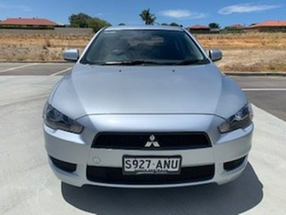2011 Mitsubishi Lancer CJ MY11 SX Sportback Silver 5 Speed Manual Hatchback.