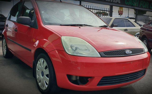 Used Ford Fiesta WP LX Cheltenham, 2004 Ford Fiesta WP LX Red 5 Speed Manual Hatchback