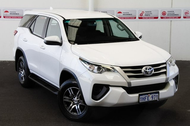 Pre-Owned Toyota Fortuner GUN156R GX Myaree, 2019 Toyota Fortuner GUN156R GX Glacier White 6 Speed Automatic Wagon