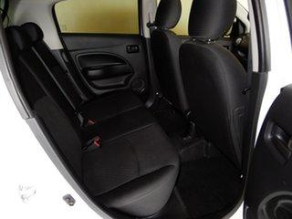 2017 Mitsubishi Mirage LA MY17 ES White Continuous Variable Hatchback