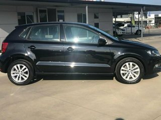 2015 Volkswagen Polo 6R 81TSI Comfortline Black Sports Automatic Dual Clutch Hatchback.