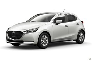 2020 Mazda 2 DJ Series G15 Pure White Sports Automatic Hatchback.