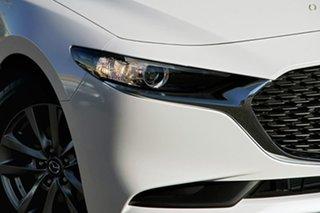 2020 Mazda 3 BP Series G20 Pure White Sports Automatic Sedan.