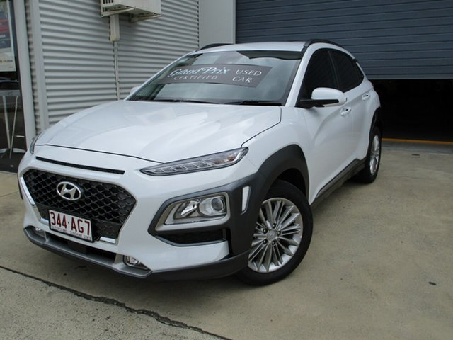Used Hyundai Kona OS.3 MY20 Elite 2WD Caboolture, 2020 Hyundai Kona OS.3 MY20 Elite 2WD White 6 Speed Sports Automatic Wagon