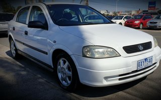2001 Holden Astra TS CD White 4 Speed Automatic Hatchback.