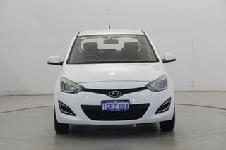 2014 Hyundai i20 PB MY14 Active White 4 Speed Automatic Hatchback.