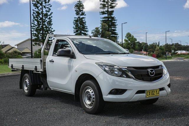 Used Mazda BT-50 UR0YD1 XT 4x2 Port Macquarie, 2016 Mazda BT-50 UR0YD1 XT 4x2 White 6 Speed Manual Cab Chassis