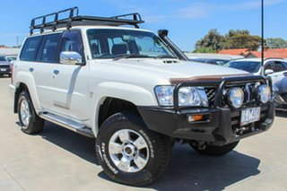 2013 Nissan Patrol Y61 GU 9 ST White 5 Speed Manual Wagon