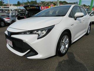 2019 Toyota Corolla ZWE211R Ascent Sport E-CVT Hybrid White 10 Speed Constant Variable Hatchback.