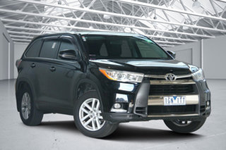 2015 Toyota Kluger GSU55R GX (4x4) Black 6 Speed Automatic Wagon.