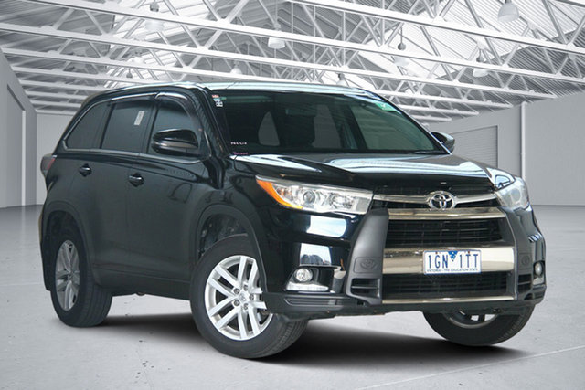 Used Toyota Kluger GSU55R GX (4x4) Altona North, 2015 Toyota Kluger GSU55R GX (4x4) Black 6 Speed Automatic Wagon