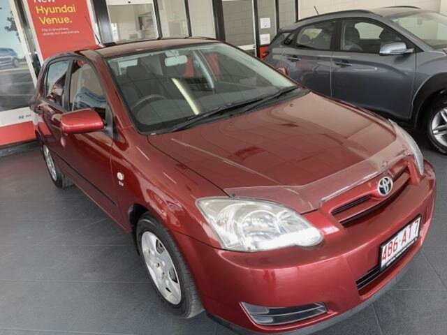 Used Toyota Corolla ZZE122R Ascent Sport Seca Emerald, 2006 Toyota Corolla ZZE122R Ascent Sport Seca Red 5 Speed Manual Hatchback