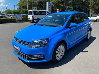 2014 Volkswagen Polo 6R MY15 66TSI DSG Trendline Blue 7 Speed Sports Automatic Dual Clutch Hatchback.