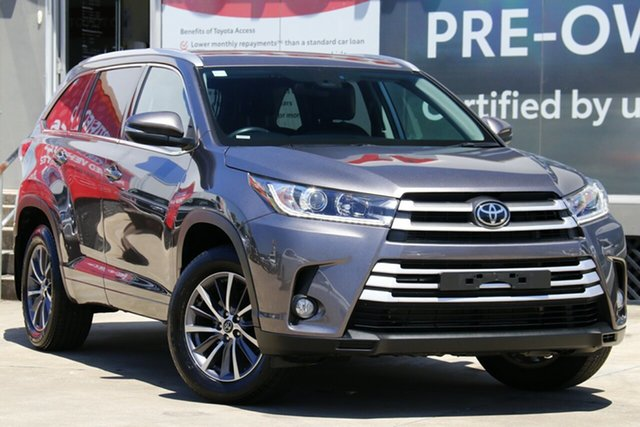 Pre-Owned Toyota Kluger GSU50R GXL 2WD Guildford, 2019 Toyota Kluger GSU50R GXL 2WD Predawn Grey 8 Speed Automatic Wagon