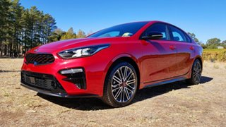 2020 Kia Cerato BD MY21 GT DCT Runway Red 7 Speed Automatic Sedan
