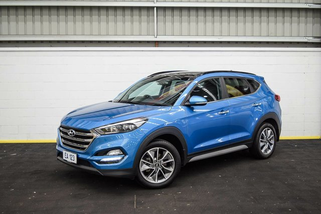 Used Hyundai Tucson TLe MY17 Elite D-CT AWD Canning Vale, 2017 Hyundai Tucson TLe MY17 Elite D-CT AWD Blue 7 Speed Sports Automatic Dual Clutch Wagon