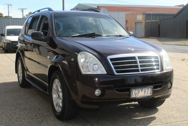 Used Ssangyong Rexton Y200 MY07 RX270 Sports West Footscray, 2007 Ssangyong Rexton Y200 MY07 RX270 Sports Maroon 5 Speed Auto Steptronic Wagon