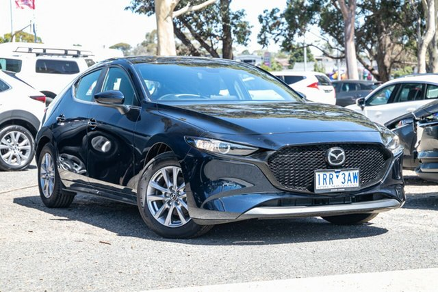 Used Mazda 3 BP2H7A G20 SKYACTIV-Drive Pure Mornington, 2020 Mazda 3 BP2H7A G20 SKYACTIV-Drive Pure Blue 6 Speed Sports Automatic Hatchback