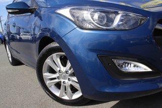 2014 Hyundai i30 GD2 MY14 Trophy Dazzling Blue 6 Speed Manual Hatchback.