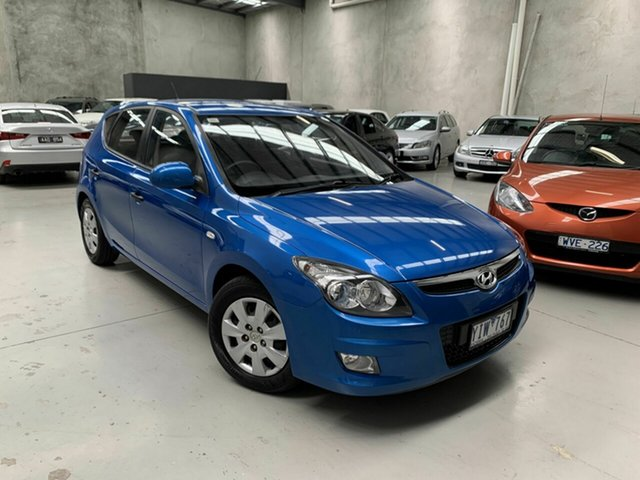 Used Hyundai i30 FD MY11 SLX Coburg North, 2011 Hyundai i30 FD MY11 SLX Blue 4 Speed Automatic Hatchback