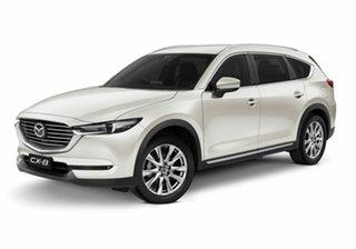 2020 Mazda CX-8 KG2W2A GT SKYACTIV-Drive FWD Snowflake White Pearl 6 Speed Sports Automatic Wagon.