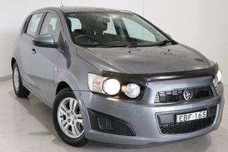2013 Holden Barina TM MY14 CD Grey 5 Speed Manual Hatchback.