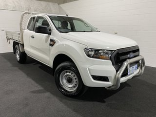 2017 Ford Ranger PX MkII XL Hi-Rider Cool White 6 Speed Sports Automatic Cab Chassis.