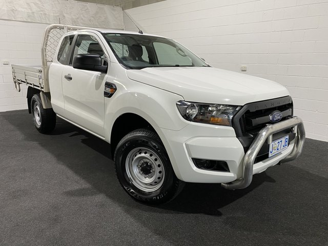Used Ford Ranger PX MkII XL Hi-Rider Glenorchy, 2017 Ford Ranger PX MkII XL Hi-Rider Cool White 6 Speed Sports Automatic Cab Chassis