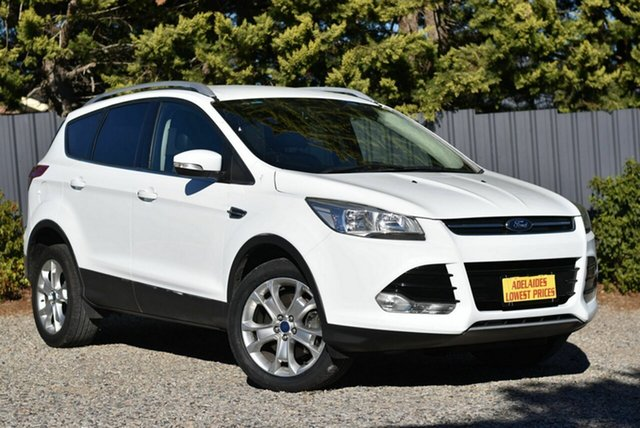 Used Ford Kuga TF Trend AWD Morphett Vale, 2013 Ford Kuga TF Trend AWD White 6 Speed Sports Automatic Wagon
