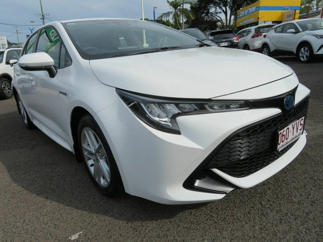 Used Toyota Corolla ZWE211R Ascent Sport E-CVT Hybrid Mount Gravatt, 2019 Toyota Corolla ZWE211R Ascent Sport E-CVT Hybrid White 10 Speed Constant Variable Hatchback