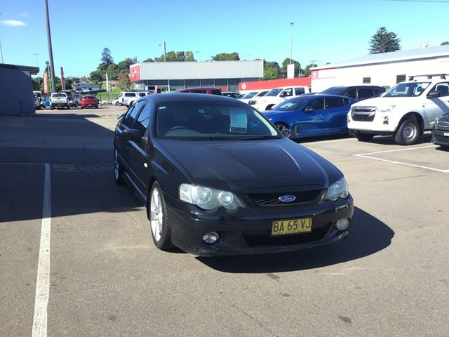 Pre-Owned Ford Falcon BA Mk II XR8 Cardiff, 2005 Ford Falcon BA Mk II XR8 Black 4 Speed Sports Automatic Sedan