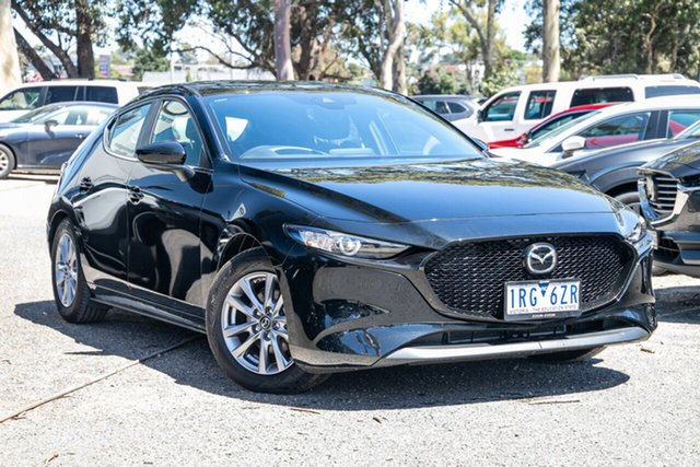 Used Mazda 3 BP2H7A G20 SKYACTIV-Drive Pure Mornington, 2020 Mazda 3 BP2H7A G20 SKYACTIV-Drive Pure Black 6 Speed Sports Automatic Hatchback