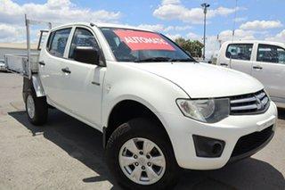 2011 Mitsubishi Triton MN MY11 GLX Double Cab 4x2 White 4 Speed Automatic Utility.